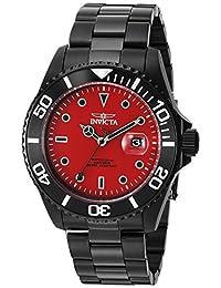 Invicta Men's 'Pro Diver' Quartz Stainless Steel Diving Watch, Color:Black (Model: 23007)