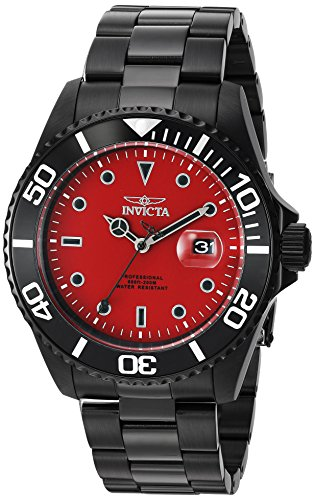 - Invicta Men's Pro Diver Quartz Diving Watch with Stainless-Steel Strap, Black, 22 (Model: 23007)