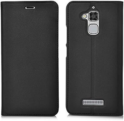 ELTD Asus Zenfone 3 Max 5.2 flip Cover, Slim flip funda carcasa case para Asus Zenfone 3 Max 5.2, Negro