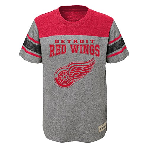 - Outerstuff NHL Detroit Red Wings Youth Boys Heritage Short sleeve Tee, X-Large(18), Heather Grey