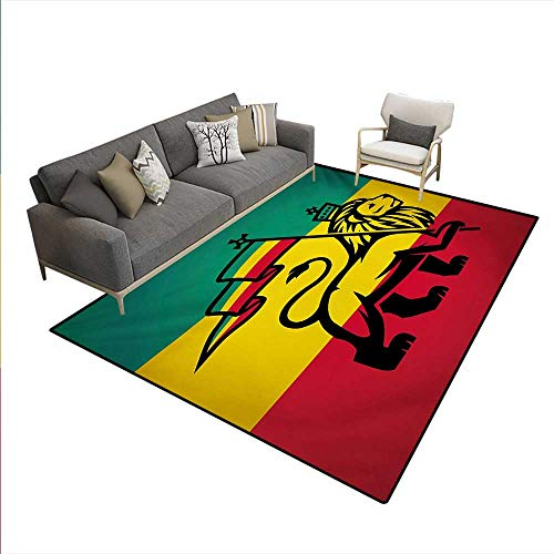Carpet,Judah Lion a Rastafari Flag King Jungle Reggae