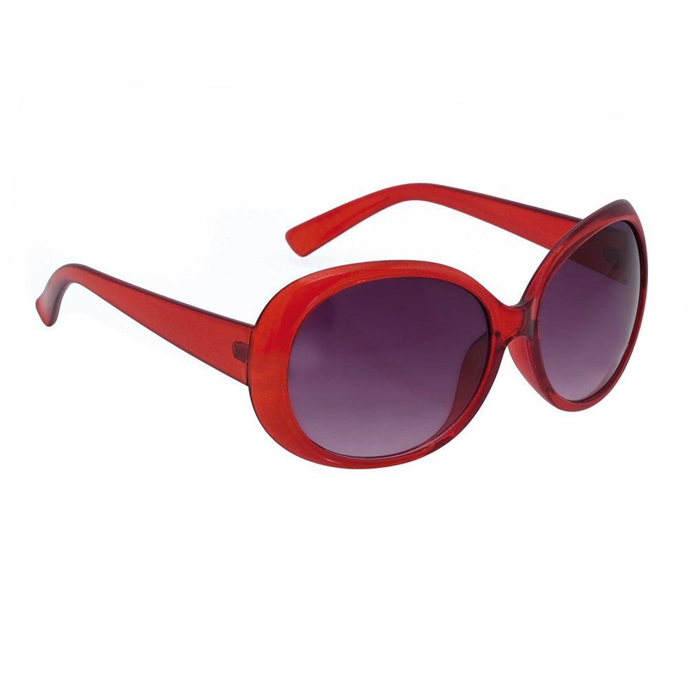eBuyGB Ladies Sunglasses - Oversized Round / Oval Glasses / Shades - Posh Style Black 1259503