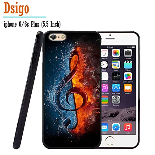 iPhone 6S Plus Case, iPhone 6 Plus Case, Dsigo TPU Black Full Cover Protective Case for New Apple iPhone 6/6S Plus 5.5 inch - Ice and Fire collision