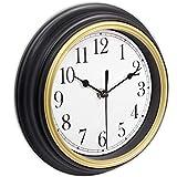 45Min 9-Inch Retro Wall Clock, Silent Non-Ticking Round Home Decor Wall Clock with Arabic Numerals