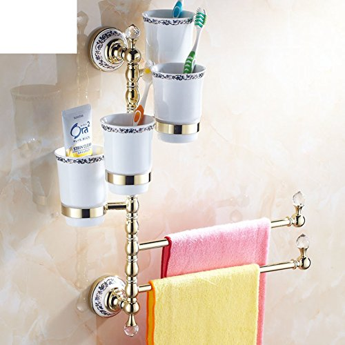European-style mug/Solid brass Towel rack/towel rack/Rotation Towel rack-W