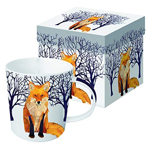 Paperproducts Design 28080 Winter Fox Gift-Boxed Mug, 13.5 Ounce -