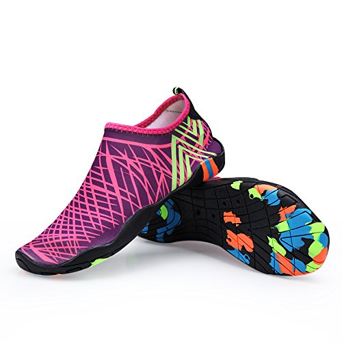 Yoga Mens Aerobics Water Shoes Aqua Shoes Beach Shoes Surf Pool for Swim Purple Quick Womens Socks Water Dry 15waq465