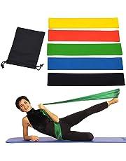 OUTLETISSIMO® Juego de 5 Bandas elásticas Bandas Resistencia Banda para Fitness Yoga Crossfit