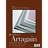 "Strathmore 400 Series Artagain Pad, Assorted Tints, 9""x12"" Glue Bound, 24 Sheets"