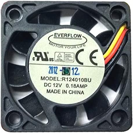 New Everflow R127025BU 12VDC 0.4A 70x70x25mm 4-Pin Connector Cooling Fan