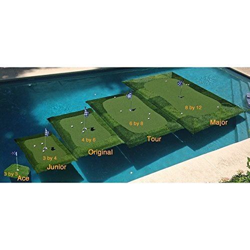 Retail Turf Solutions Floating Golf Green 8X12 ft ''Major'' Floating Golf Green
