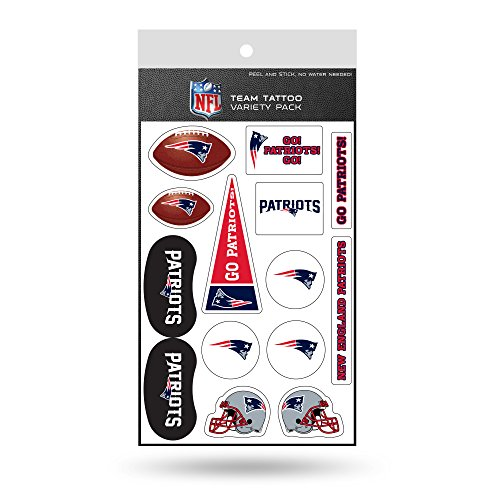 NFL New England Patriots Tattoo Variety Pack]()