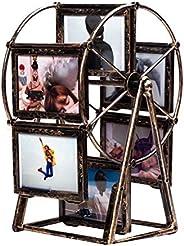 Garneck Moldura para fotos de 5 polegadas giratória em forma de moinho de vento em forma de roda gigante Estil
