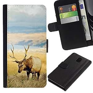 Stuss Case / Funda Carcasa PU de Cuero - El campo Elk - Samsung Galaxy Note 3 III