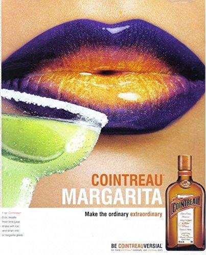 MAGAZINE ADVERTISEMENT For 2007 Cointreau Alcohol Margarita Purple Lips