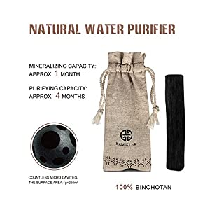 Buy 10 Get 15 - KAMIKI Binchotan Japan Japanese Artisan World Top Activated Charcoal Filter Tap Water Purifier 100% Nature Made Replacement for Pitchers - Half Gallon Gift Pack