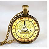 Haida Bill Cipher Wheel Pendant Necklace, 1-Inch