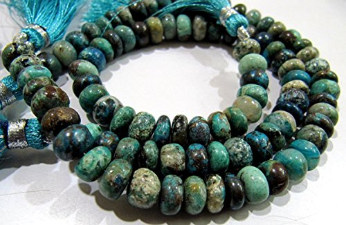 AAA Quality Natural Chrysocolla Rondelle Plain Beads 7-8 mm / Multi Color Smooth Gemstone Beads / Sold per String 8 inches / Rare Gemstone.