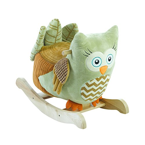 Rockabye Owliver Green Owl Rocker, One Size by Rockabye