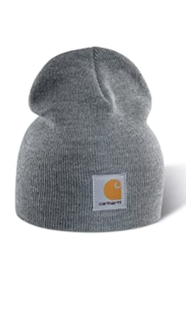 Carhartt Acrylic Knit Beanie - Grey Mens Winter Beanie Hat  CHA205HGY-Universal 007a565bf73