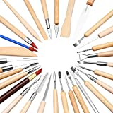 BESKIT 30PCS Clay Sculpting Tools Pottery Carving Tool Set - Includes Clay Color Shapers, Modeling Tools & Wooden Sculpture Knife