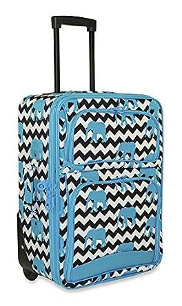 Amazon.com | Ever Moda Designer Print 20-inch Expandable Carry On ...