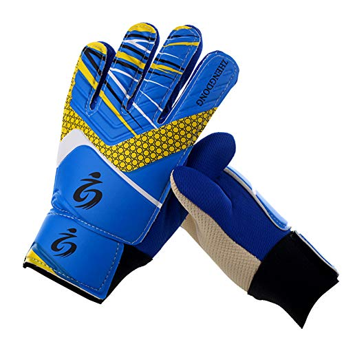 - Sunnylela Football Soccer Goalkeeper Goalie-Youth Kids Training Gloves Anti-Slip Breathable Goalkeeper Gloves with Leg Guard Protector