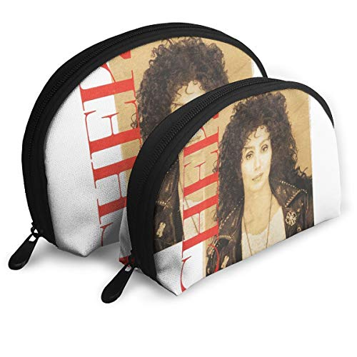 Capa Mr.Luo. Cher Chains Tour 14 Customized Portable Bags Clutch Pouch Storage Bag Cosmetic Bag Purse Travel Storage Bag Shell Shape One Big and One Small for Women -
