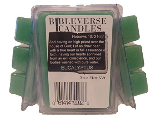 Bible Verse Candles 3 Pack Eucalyptus Soy Blend Wax Melt 9oz