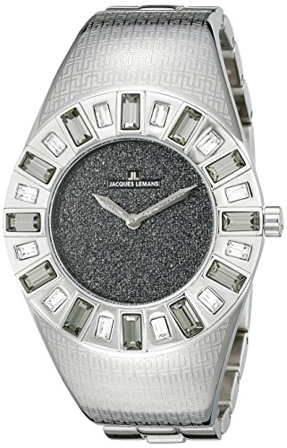 Jacques Lemans Women's 1-1585G Cannes Analog with Swarovski Elements Watch