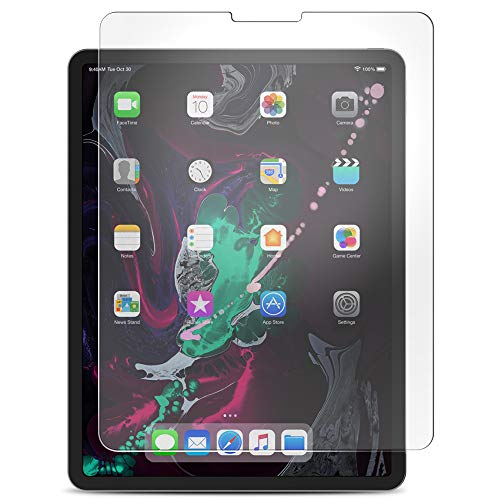 Maxboost Screen Protector for Apple iPad Pro 11-inch 2018 (Clear, 1 Pack) [Upgrade Version] Tempered Glass Protector w/Open-Cutout HD Clarity Compatible with iPad Pro 11 & FaceID and Apple Pencil