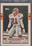 1989 Topps Deion Sanders Falcons Rookie Football Card #30T