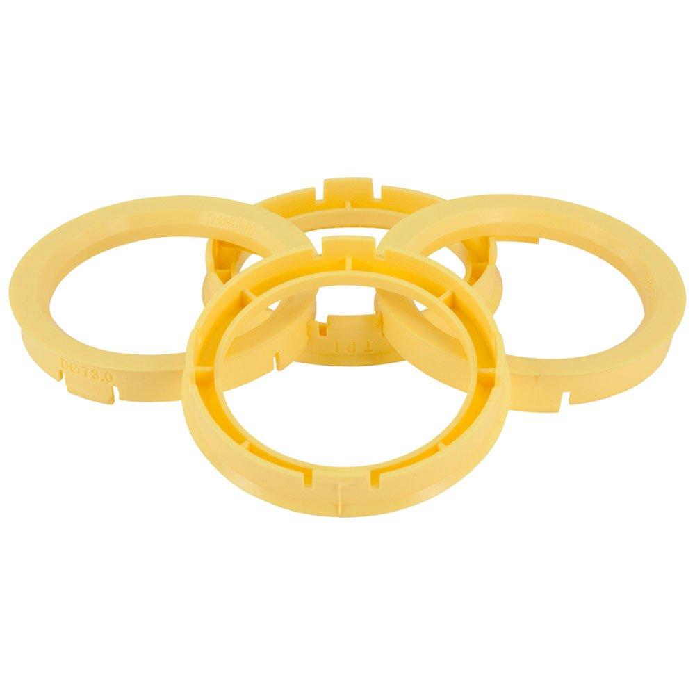 Set TPI Wheel hub rings - 63.3->58.1mm - Lemon Yellow BX6335810-4