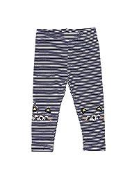 Chinatera Girls Leggings Stripes Pinstripe Cartoon Cat Printed Pants Leggings