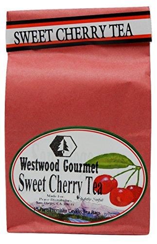 Black Cherry 16 Oz Jar (Westwood Gourmet Flavored Tea, 15 Tea Bags (Sweet Cherry))