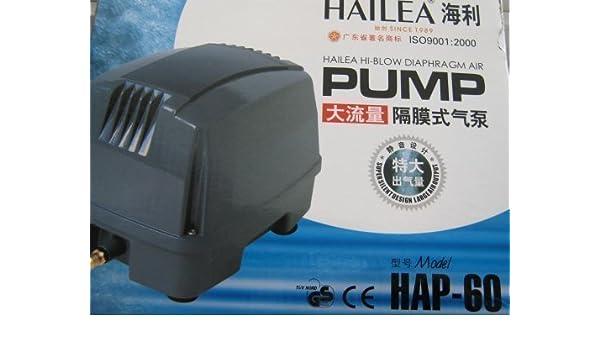 Hailea HAP-60 Compresor de Diafragma - Silencioso: Amazon.es: Productos para mascotas
