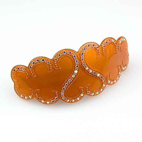 (Ethos Amber - Cubitas Bellini Collection (Hand-set Swarovski Crystals, Hair Clip))