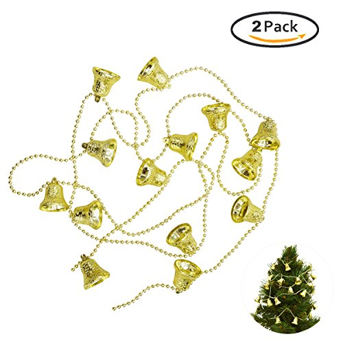 Wedding Party Ornaments Christmas Tree Jingle Bell Strings Birthday Party Hanging Decoration 2 - Bell Gold Ornament