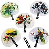 Fun Express Mini Oriental Folding Fans - 12 Pieces