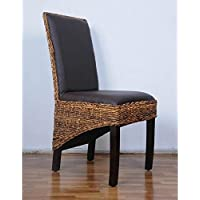 International Caravan SG-3331-2CH-IC Furniture Piece Salma Abaca Dining Chair (Set of Two)