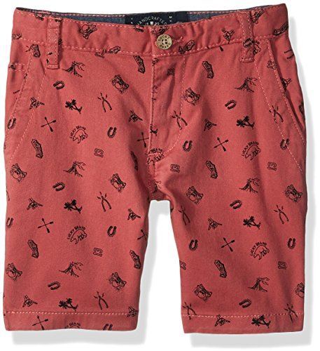 - Lucky Brand Big Boys' Flat Front Twill Shorts, Slate Rose Striped, 18