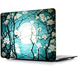 iCasso 3D Printing New Art Fashion Image Series Ultra Slim Light Weight Rubberized Hard Case Glossy Clear Crystal Snap-On Hard Cover Case for MacBook Air 13 (Model: A1369 and A1466) - Cherry Blossom