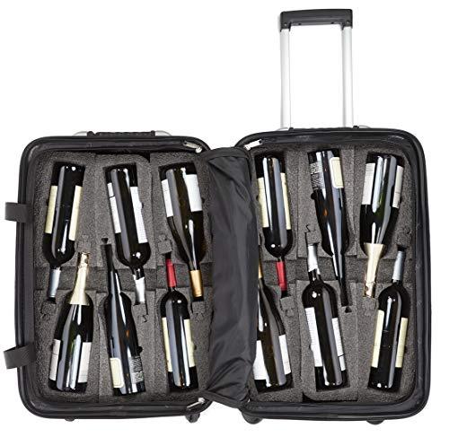 VinGardeValise - Up to 12 Bottles & All Purpose Wine Travel Suitcase (Black) by VinGardeValise (Image #2)