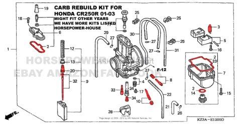 amazon com carb carburetor rebuild kit with gasket main pilot slow rh amazon com