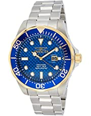 Invicta Men's 12566 Pro Diver Analog Display Swiss Quartz Silver Watch