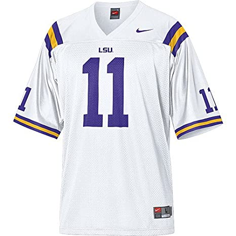 buy popular 6e59a 62caf Amazon.com : Nike LSU Tigers Boy's Replica Football Jersey ...