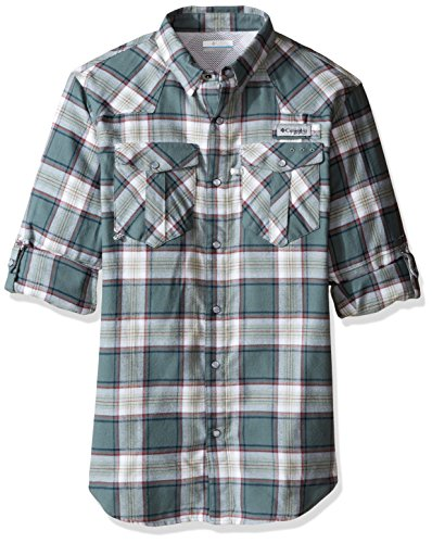 (Columbia Sportswear Men's Beadhead Flannel Long Sleeve Shirt, Pond Plaid, Large)