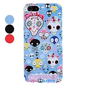 Cartoon Extra-terrestrial Pattern Hard Case for iPhone 5/5S (Assorted Colors) --- COLOR:Red