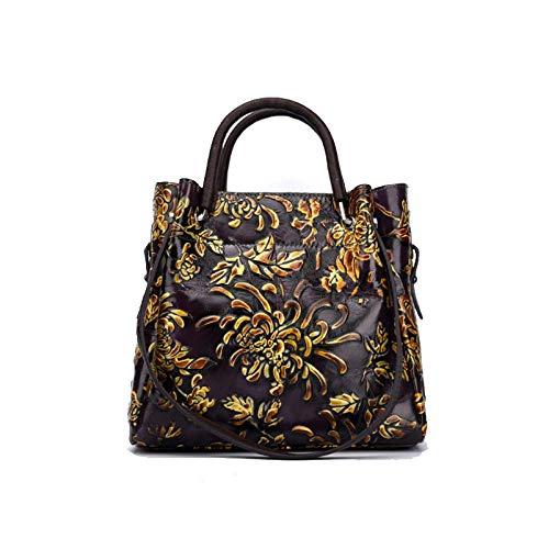 Rétro De Sac Bandoulière Sac Main Dames Simple Fleurs à Style Style à La Mode Chinois Purple AJLBT Fait 5qxIgdqZ