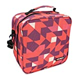 KOSOX Oxford Square Insulated Lunch Tote Bag Picnic Cooler Bag with Shoulder Strap - Unisex Lunch Bag for Adults, Kids, Women, Men, Teens (Rose Red)